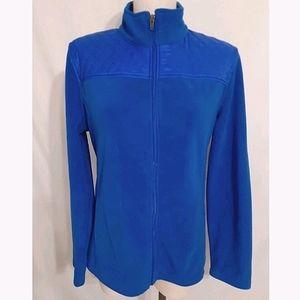 Talbots Bright Blue Fleece Zip Jacket